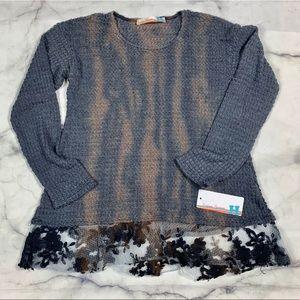 BNWT Vintage Havana Grey Sweater Size L